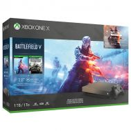 Microsoft Xbox One X 1TB Gold Rush Special Edition Battlefield V Bundle