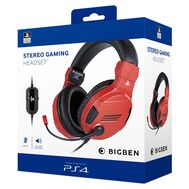 BigBen Stereo Gaming Headset V3 Red - Sony Officially Licensed